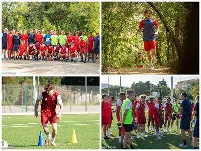 10 July 2020 : 1st training for Paolo with the U19 Nationals of AS Cannes. And 2nd year with the Academy. Good luck !
