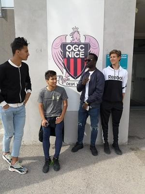 Trials at OGC Nice for Jacky (U15) and visit of the OGC training centre for a few academicians